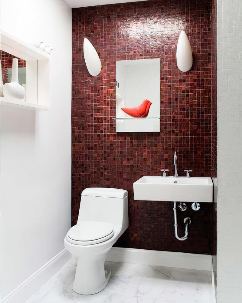 Дизайн в червоно-білому стилі